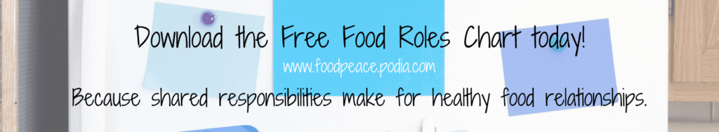 How to help your child have a healthy relationship with food role chart free download