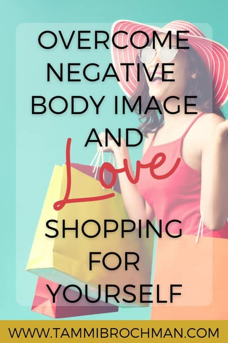 woman in sun hat and sun dress, how to overcome negative body image and love shopping for yourself